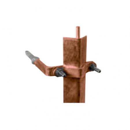 Držiak ochranného uholníka do dreva