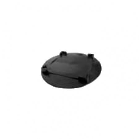 Plastic base for conductor support for flat roofs
