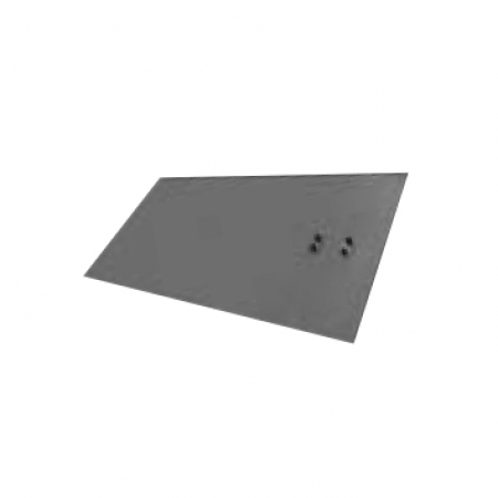 Earthing plate with cleats