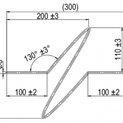 Interception rod for steel base