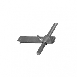 Interception rod holder for fixing into masonry
