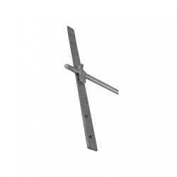 Lower interception rod holder for rafters