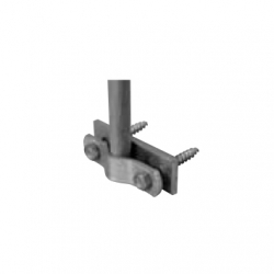 Interception rod holder for wooden constructions