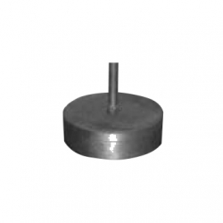 Steel base for interception rod