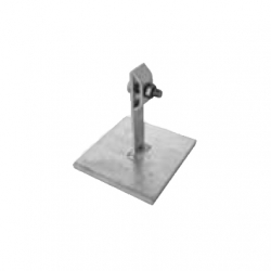 Conductor support for flat roofs