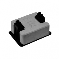Concrete conductor support for flat roofs