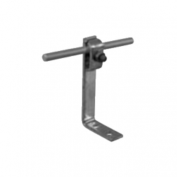Conductor support for metal/tin roofs